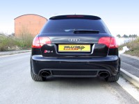 Выхлопная система (тихая) Milltek Sport для Audi RS4 B7 4.2 V8 [CAT-BACK - Resonated. Including Exhaust Valves. Satin Sheen Black]