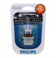 Лампа накаливания Philips Blue Vision HB3 12V 60W