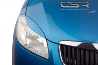 Реснички на передние фары Skoda Fabia 2 07-/ Praktik 07-/ Roomster 5J 06- CSR Automotive